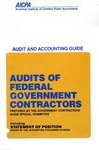 Audits of federal government contractors (1990); Audit and accounting guide: