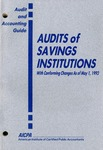 Audits of savings institutions with conforming changes as a May 1, 1992