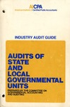 Audits of state and local governmental units (1974) including Statement of Position (75-3); Audit and accounting guide: