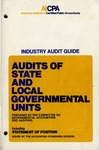 Audits of state and local governmental units (1974) including Statement of Position (75-3)