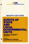 Audits of state and local governmental units (1978)