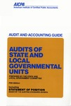 Audits of state and local governmental units (1994); Audit and accounting guide: