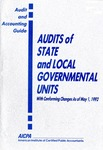 Audits of state and local governmental units with conforming changes as of May 1, 1992