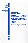 Audits of state and local governmental units with conforming changes as of May 1, 1995