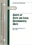 Audits of state and local governmental units with conforming changes as of May 1, 2001; Audit and accounting guide: