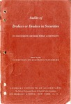 Audits of brokers and dealers in securities (1956)