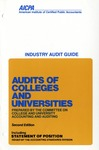 Audits of colleges and universities (1975)
