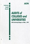 Audits of colleges and universities with conforming changes as of May 1, 1994; Industry audit guide; Audit and accounting guide