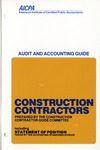 Construction contractors (1981); Audit and accounting guide: