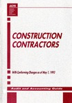 Construction contractors with conforming changes as of May 1,  1993; Audit and accounting guide: