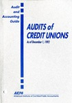 Audits of credit unions, with conforming changes as of December 1, 1992