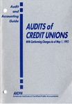 Audits of credit unions, with conforming changes as of May 1, 1992