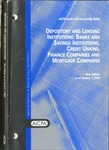 Depository and lending institutions: banks and savings institutions, credit unions, finance companies and mortgage companies, new edition as of January  1, 2004; Audit and accounting guide:
