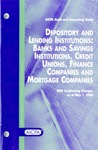 Depository and lending institutions: banks and savings institutions, credit unions, finance companies and mortgage companies, with conforming changes as of May 1, 2006