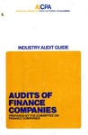 Audits of finance companies (1973); Audit and accounting guide: