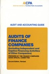 Audits of finance companies (including independent and captive financing activities of other companies)