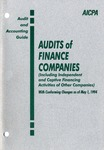 Audits of finance companies (including independent and captive financing activities of other companies) with conforming changes as of May 1, 1994