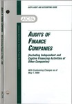 Audits of finance companies (including independent and captive financing activities of other companies); Audit and accounting guide: