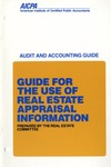 Guide for the use of real estate appraisal information (1987)