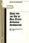 Guide for the use of real estate appraisal information with conforming changes as of May 1, 1997