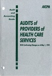 Audits of providers of health care services with conforming changes as of May 1, 1994