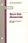 Health care organizations with conforming changes as of May 1, 1998