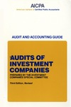 Audits of investment companies (1987); Industry audit guide; Audit and accounting guide