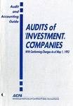 Audits of investment companies with conforming changes as of May 1, 1992
