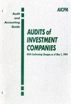 Audits of investment companies with conforming changes as of May 1, 1994; Industry audit guide; Audit and accounting guide
