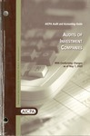Audits of investment companies, with conforming changes as of May 1, 2003; Audit and accounting guide: