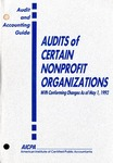 Audits of certain nonprofit organizations with conforming changes as of May 1, 1992
