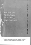 Audits of personal financial statements (1968); Industry audit guide; Audit and accounting guide