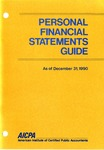 Personal financial statements guide as of December 31, 1990