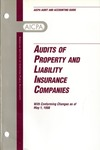 Audits of property and liability insurance companies with conforming changes as of May 1, 1998