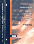 Audits of property and liability insurance companies with conforming changes as of May 1, 2002; Audit and accounting guide: