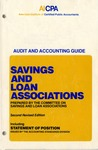 Savings and loan associations (1985); Audit and accounting guide: