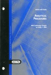 Analytical procedures, with conforming changes as of May 1, 2004; Audit and accounting guide: