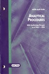 Analytical procedures, with conforming changes as of May 1, 2006; Audit and accounting guide:
