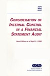 Consideration of the internal control structure in a financial statement audit, new edition as of April 1, 1996; Audit guide;Audit and accou