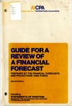 Guide for a review of a financial forecast (1982); Industry audit guide; Audit and accounting guide