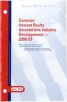 Common interest realty associations industry developments - 2006/07; Audit risk alerts