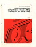 Guidelines to assess computerized time and billing systems for use in CPA firms; Computer services guidelines