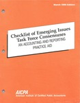 Checklist of Emerging Issues Task Force consensuses : an accounting and reporting practice aid, March 1990 edition