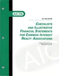 Checklists and illustrative financial statements for common interest realty associations: a financial accounting and reporting practice aid, July 2000 edition