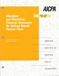Checklists and illustrative financial statements for defined benefit pension plans : a financial accounting and reporting practice aid, June 1994 edition