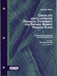 Checklists and illustrative financial statements for defined benefit pension plans : a financial accounting and reporting practice aid, July 2006 edition