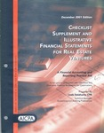 Checklist supplement and illustrative financial statements for real estate ventures : a financial accounting and reporting practice aid, December 2001 edition