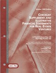 Checklist supplement and illustrative financial statements for real estate ventures : a financial accounting and reporting practice aid, October 2005 edition