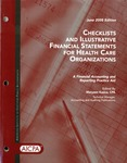 Checklists and illustrative financial statements for health care organizations : a financial accounting and reporting practice aid, June 2005 edition