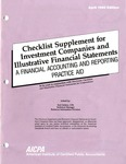 Checklist supplement for investment companies and illustrative financial statements : a financial accounting and reporting practice aid, April 1990 edition